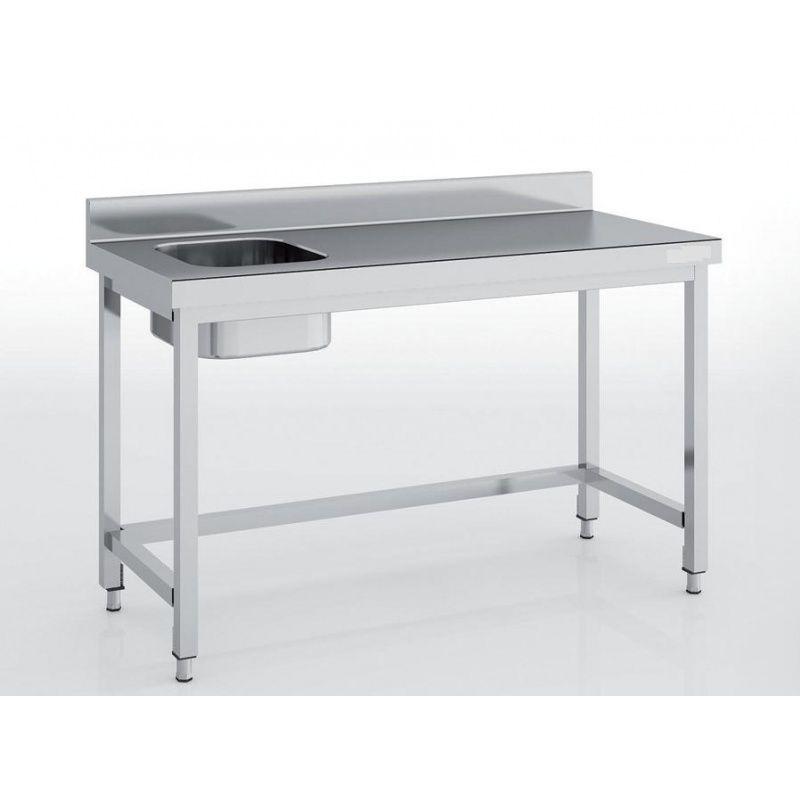 Table Adossee Avec Bac Sans Etagere Largeur 700